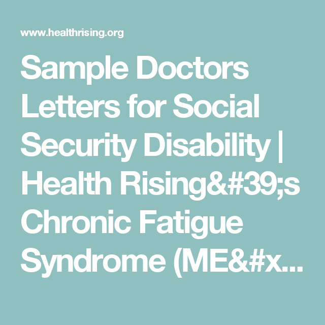Sample Doctors Letters for Social Security Disability ...
