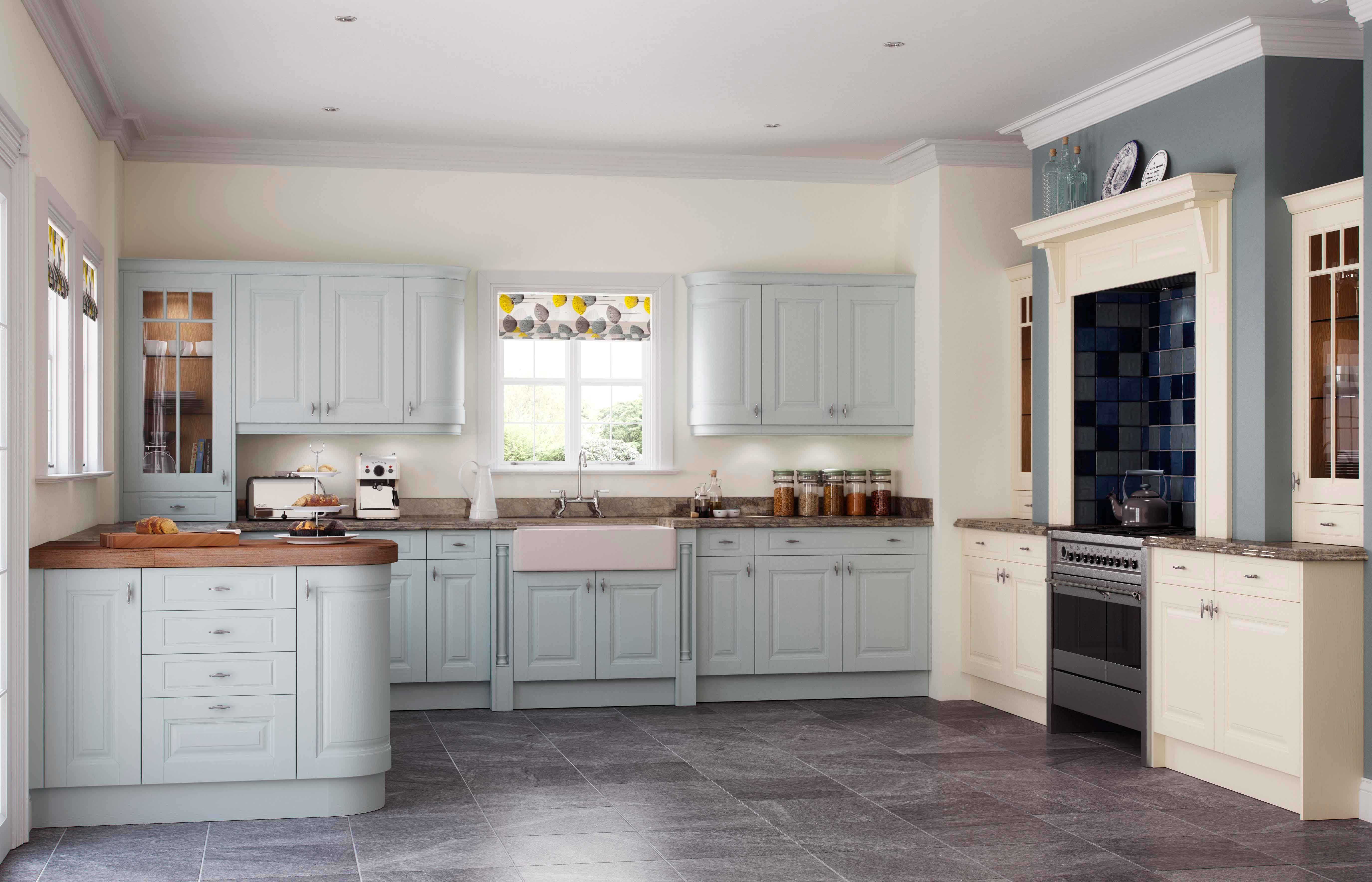 One Of Our Classic Kitchens Carnegie In Powder Blue And Cream Kitchen Design Classic Kitchens Kitchen