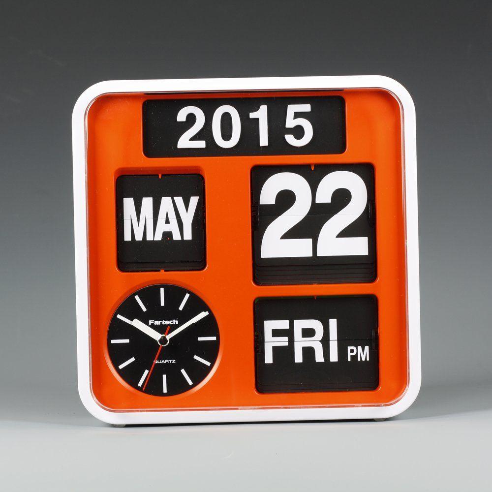 Fartech auto calendar flip clock ad 650 orange wallace walk fartech auto calendar flip clock ad 650 orange amipublicfo Choice Image
