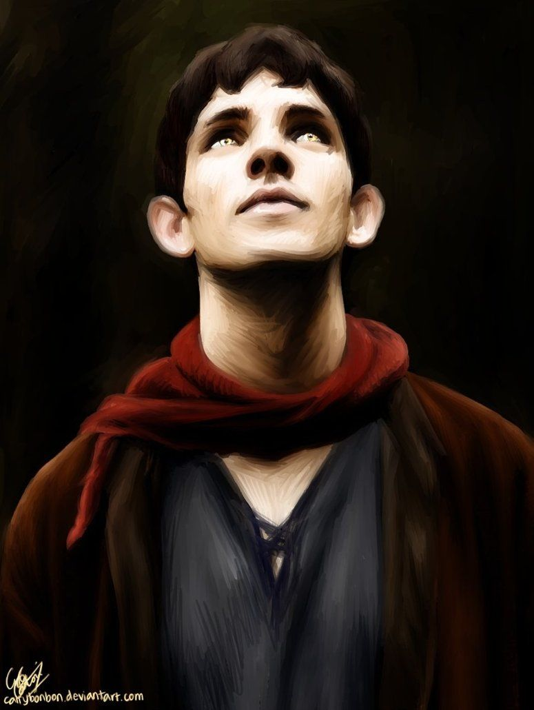 Merlin by *cattybonbon on deviantART. gorgeous contrast! love his eyes