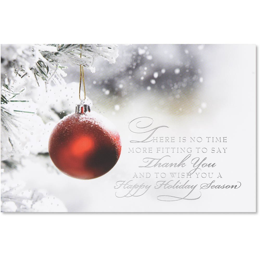 Crimson Thank You Holiday Card In 2021 Christmas Wishes Messages Merry Christmas Wishes Messages Christmas Card Sayings