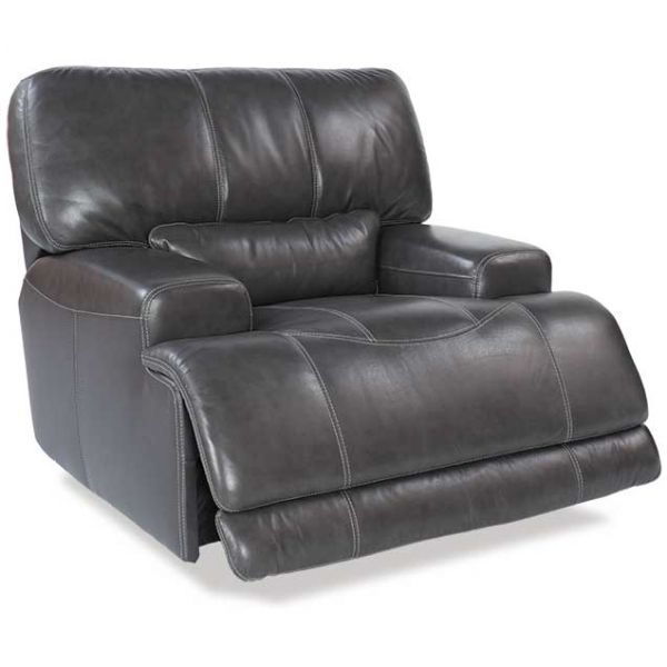 Charcoal Leather Power Recliner Furniture Power Recliners Recliner