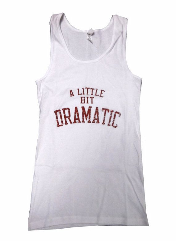 A Little Bit Dramatic Women/'s White Vest