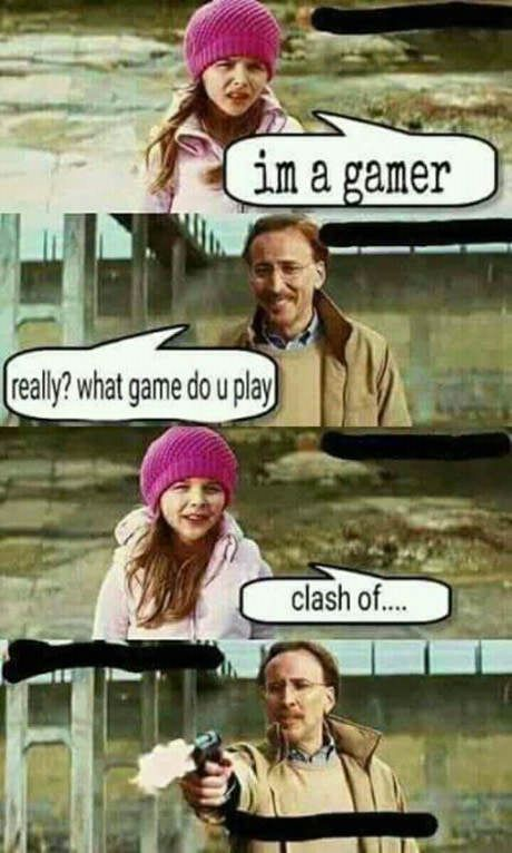 Clash Of Buuuum Headshot Funny Pictures With Words