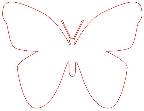 Butterfly template for applique pillow for Paytons bed – Butterfly Template