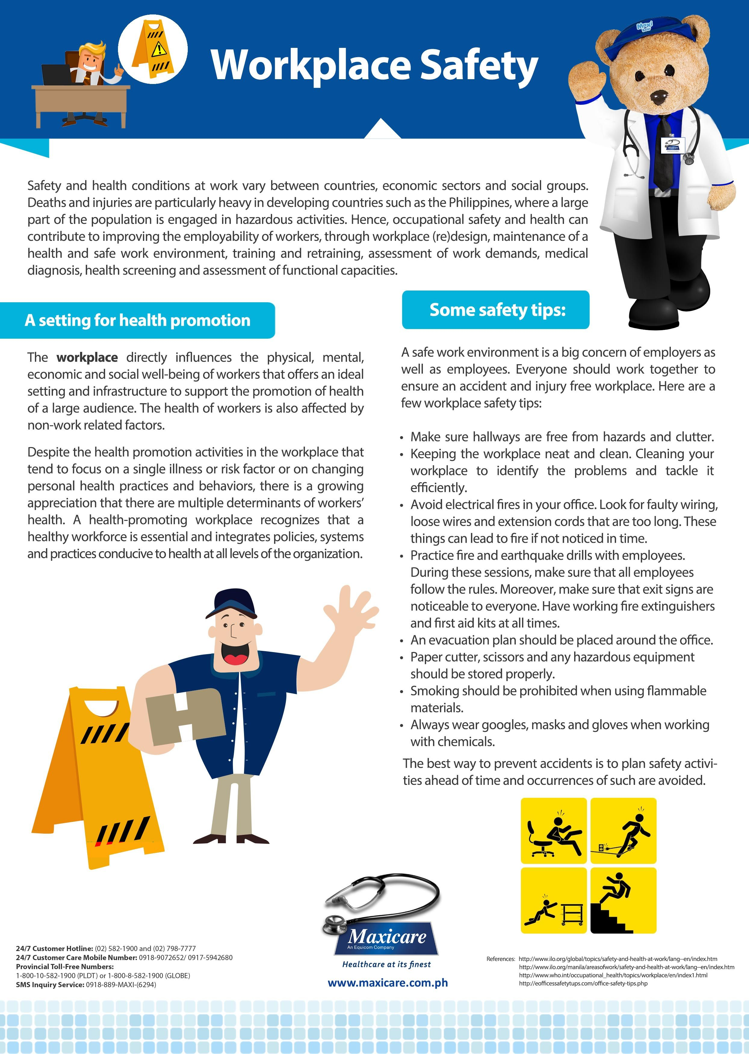 Workplace Safety Maxicare Infographic Workplace safety