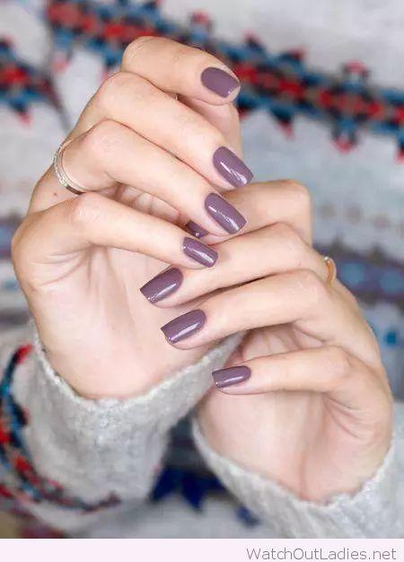 Lovely Purple Grey Nail Polish Nails Mauve Nails Nail Colors
