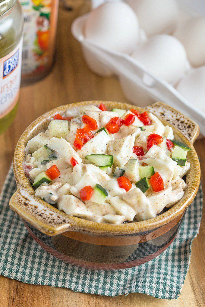 Copycat Trader Joe's Spicy Ranchero Egg White Salad and 13 Sizzlin' Recipes for National Hot and Spicy Food Day- The infamous Trader Joe's salad remade to give it more flavor. Includes dairy free, sugar free, and Whole 30 options.