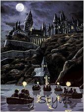 5D DIY Diamond Painting Moonnight Hogwarts Castle Mosaic Cross Stitch Full Squar-,  #3DWall- #Body #Painting
