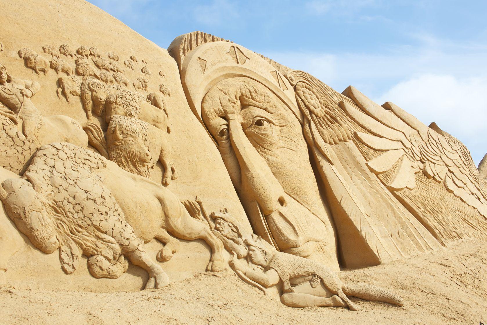 Festival de esculturas de arena de Sondervig, Dinamarca
