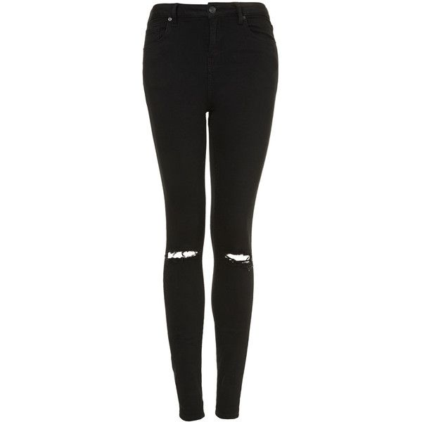 outlet online new appearance picked up TOPSHOP PETITE MOTO Black Ripped Jamie Jeans ($75) ❤ liked ...