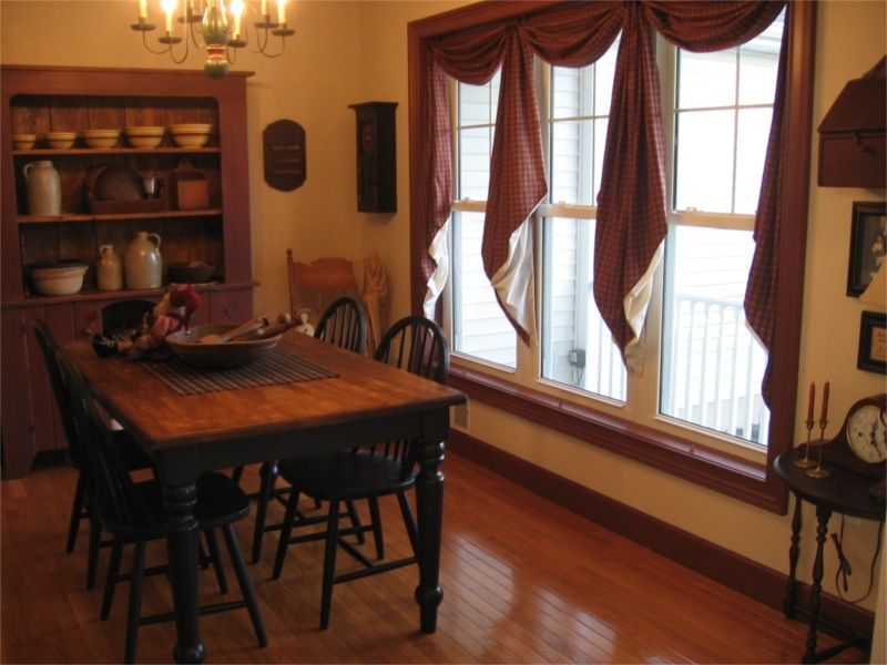 Like The Fishtail Swag Curtains They Can Be Purchased And Shipped From Primitive Dining RoomsPrimitive