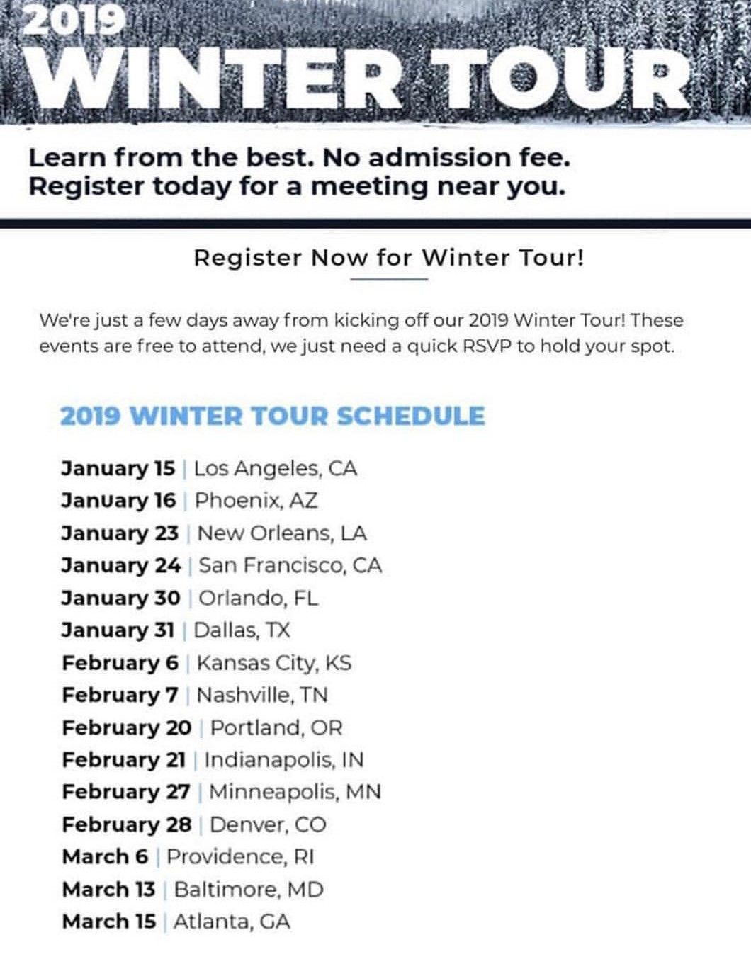 The Symmetry Financial Group Winter Tour Is In Full Swing Next