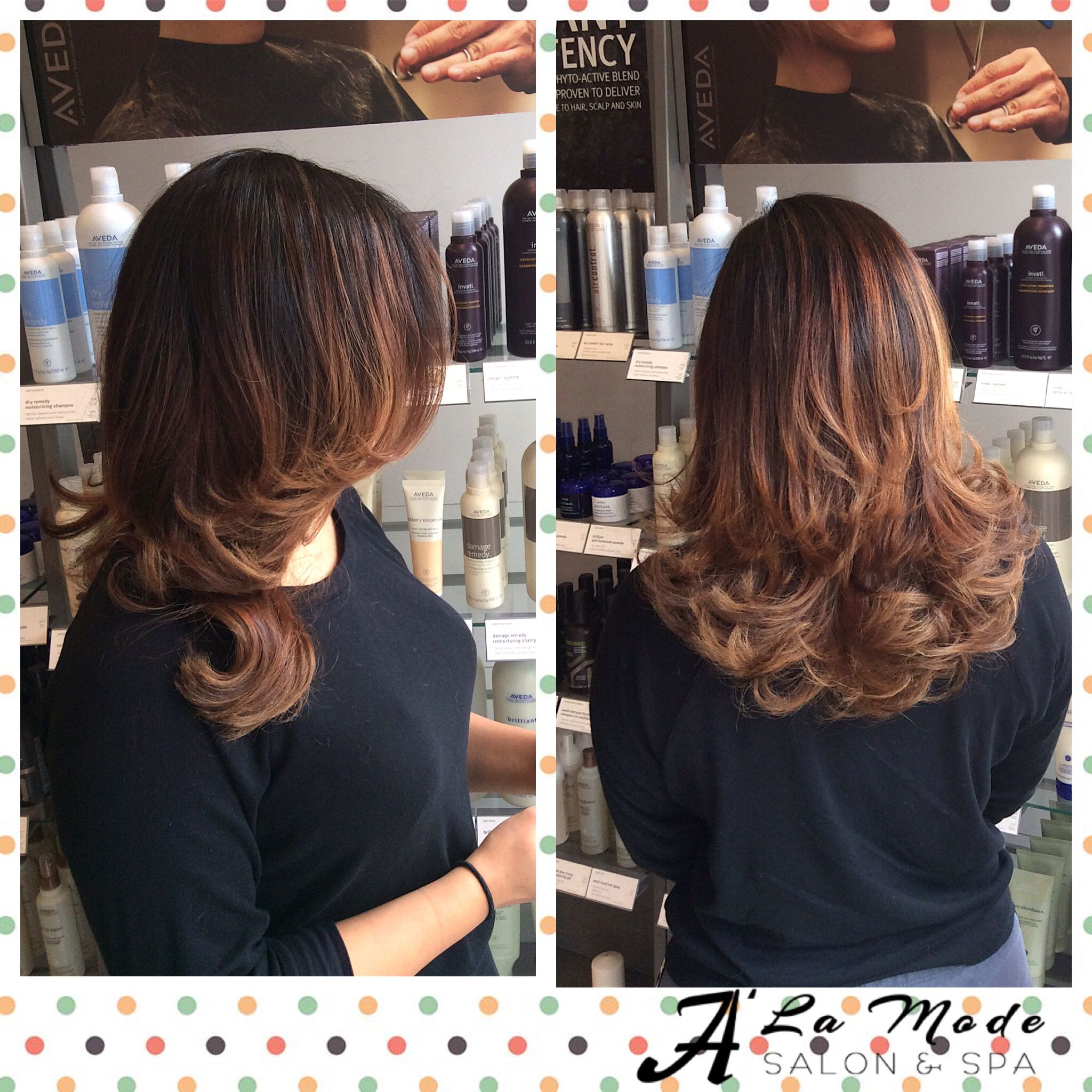 Change in weather brings change in hair caramel ombrebalayage