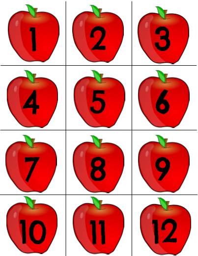 Apple Number Cards Great editable classroom materials