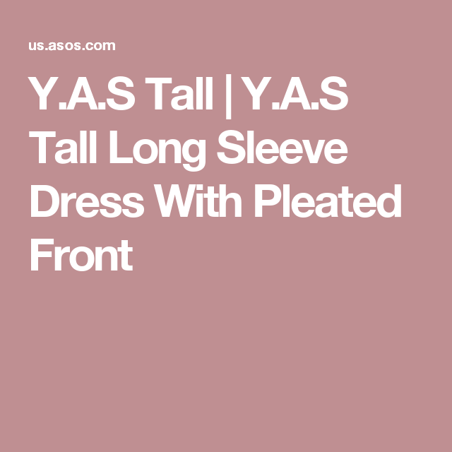 Y.A.S Tall | Y.A.S Tall Long Sleeve Dress With Pleated Front