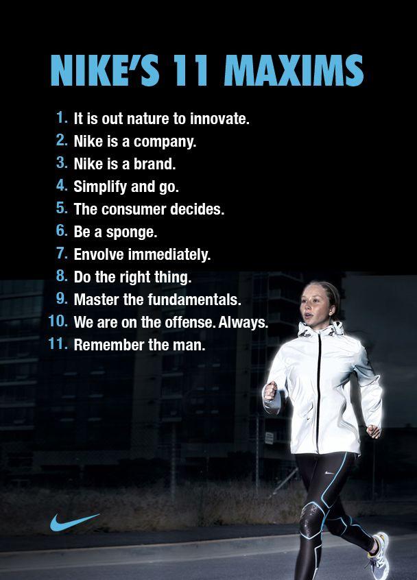 newest 79b52 c135d Nikes 11 Maxims Brand Manifesto