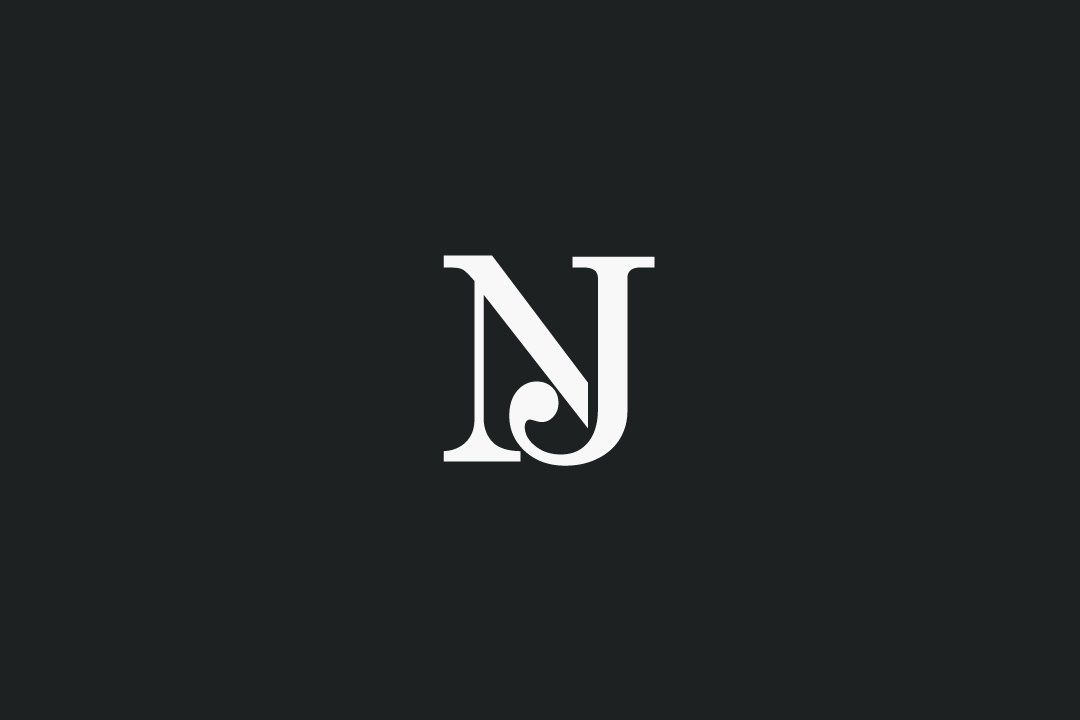 Initial Letter Jn Logo Lowercase Magenta And Orange Modern And Simple Logo Design Simple Logo Design Initials Logo Graphic Design Logo