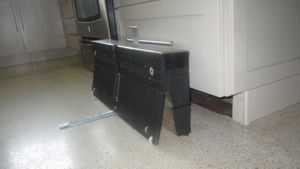 Prototype of an under cabinet step stool.  very cool!