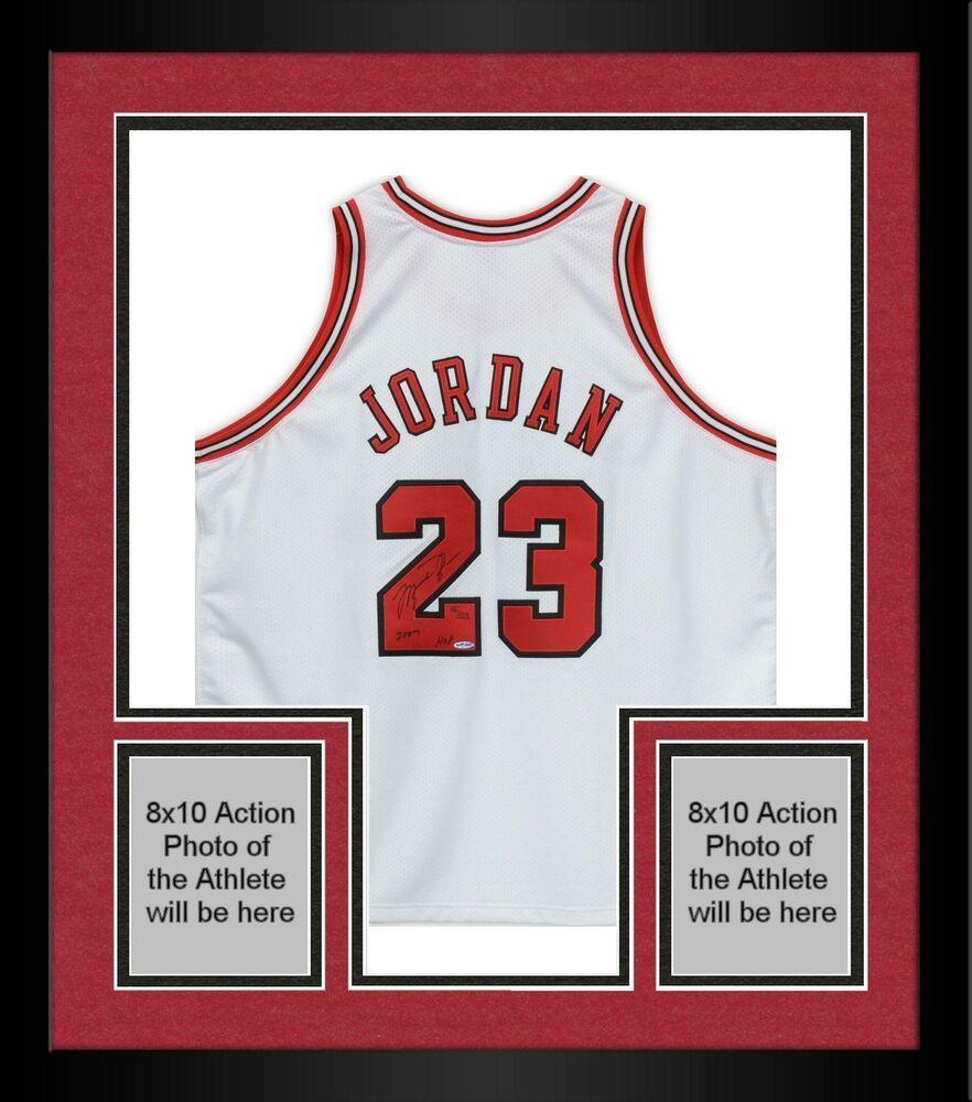 b9483c8f6a5a60 Autographed Michael Jordan Bulls Jersey Upper Deck COA Item 9606056   sportsmemorabilia  autograph