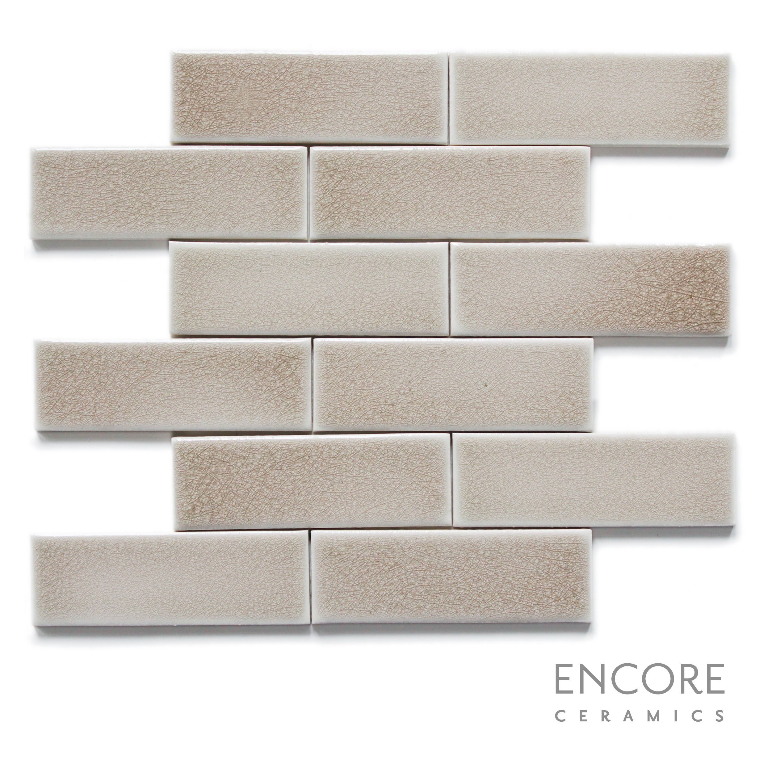 Allen roth glazed wall chocolate ceramic bullnose trim common 1 - Encore Ceramics 2 X 6 Field Tile Hand Glazed In Smoke Crackle Sustainably