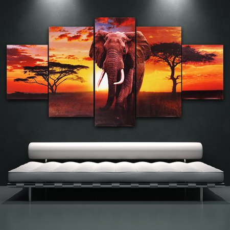 5Pcs Canvas Print Painting Wall Picture Modern Home Art Decor Framed//Unframed