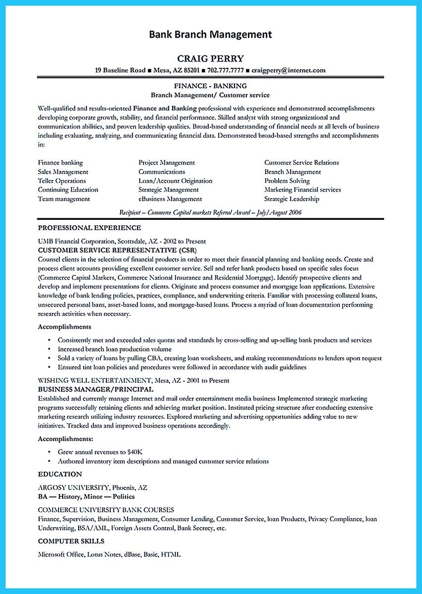 Learning To Write From A Concise Bank Teller Resume Sample Business Management Degree Online Business Classes Business Management
