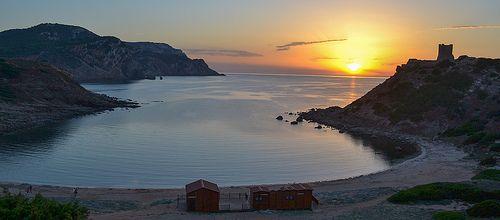 Torre del Porticciolo al tramonto, foto di Zacharmarz
