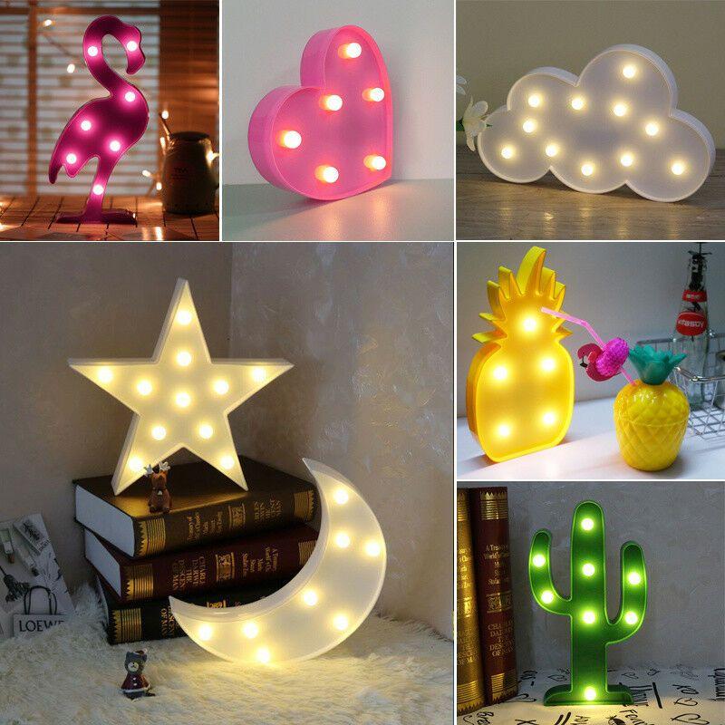 3d Led Night Light Cute Star Unicorn Wall Room Desk Nursery Home Lamp Bulb Decor Ebay 3d Led Night Light Lamp Star Night Light