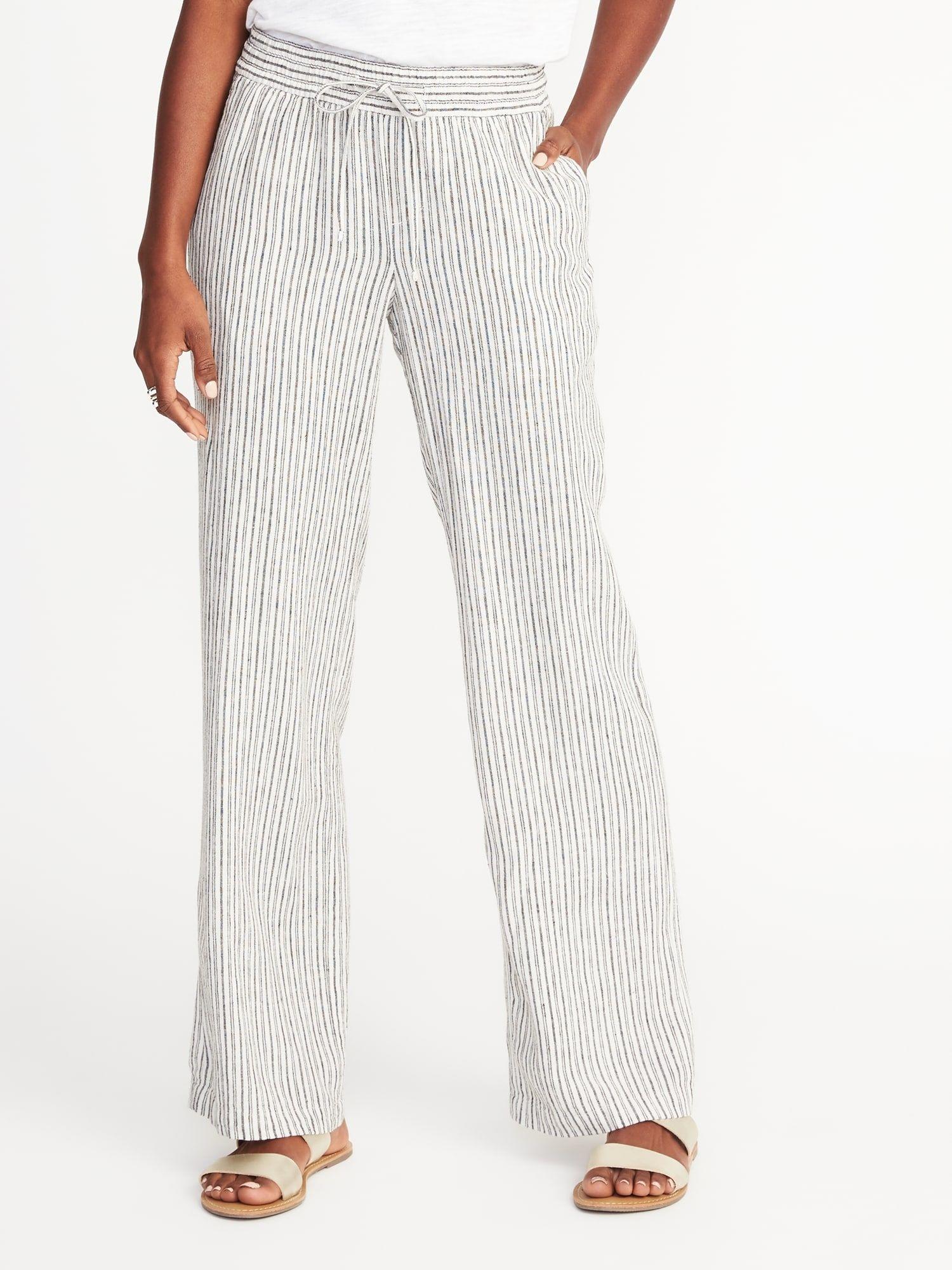26a63cc179d3e Mid-Rise Linen-Blend Wide-Leg Pants for Women |old-navy | So Fetch ...