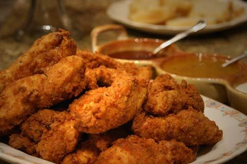 Fried Chicken Tenders And Jezebel Sauce Fried Chicken Tenders Chicken Tender Recipes Recipes Have seen zaxby's restaurants in both florida and georgia but have never eaten there so i don't really know whether or not this is close to their sauce. fried chicken tenders and jezebel sauce