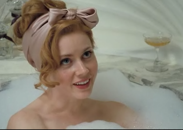Bubble bath redhead