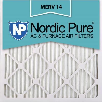 Nordic Pure 14 In X 14 In X 1 In Supreme Allergen Pleated Merv 14 Fpr 10 Air Filter 6 Pack Furnace Filters Electrostatic Air Filter Pure Products