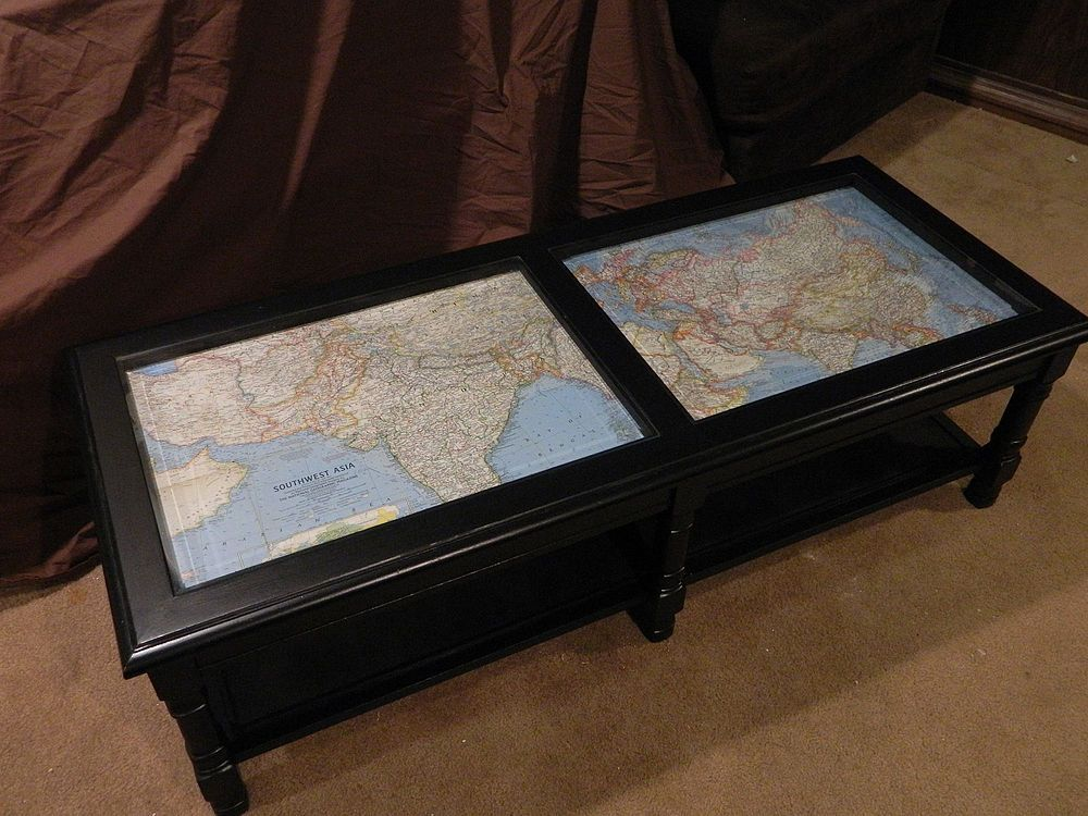 Coffee Table Makeover With Antique Maps Glass Coffee Table Makeover Coffee Table Makeover Table Makeover