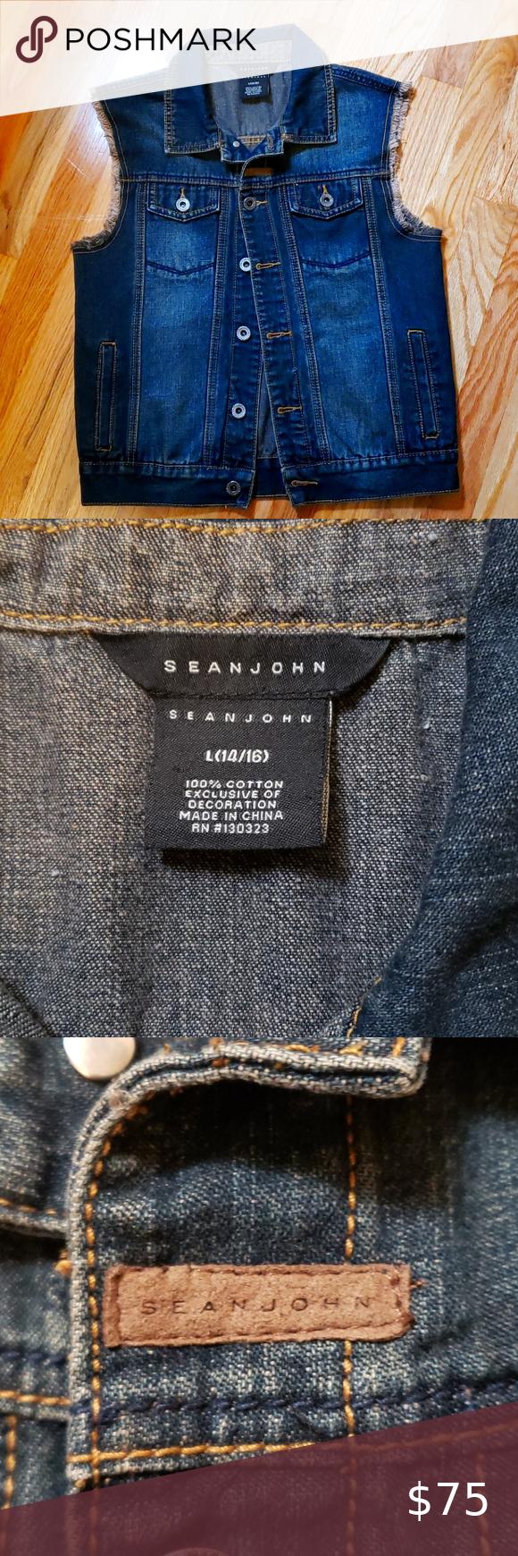 Sean John Jean Jacket Vest Jean Jacket Vest Sean John Jeans Jean Jacket [ 1740 x 580 Pixel ]