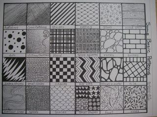 Basic Art Designs : Profusion art basic patterns and textures to draw love this
