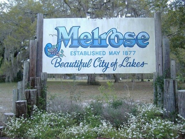 Melrose, Florida, located 15 miles east of Gainesville, is in the heart of the Lake Region, an area of over 100 beautiful lakes.