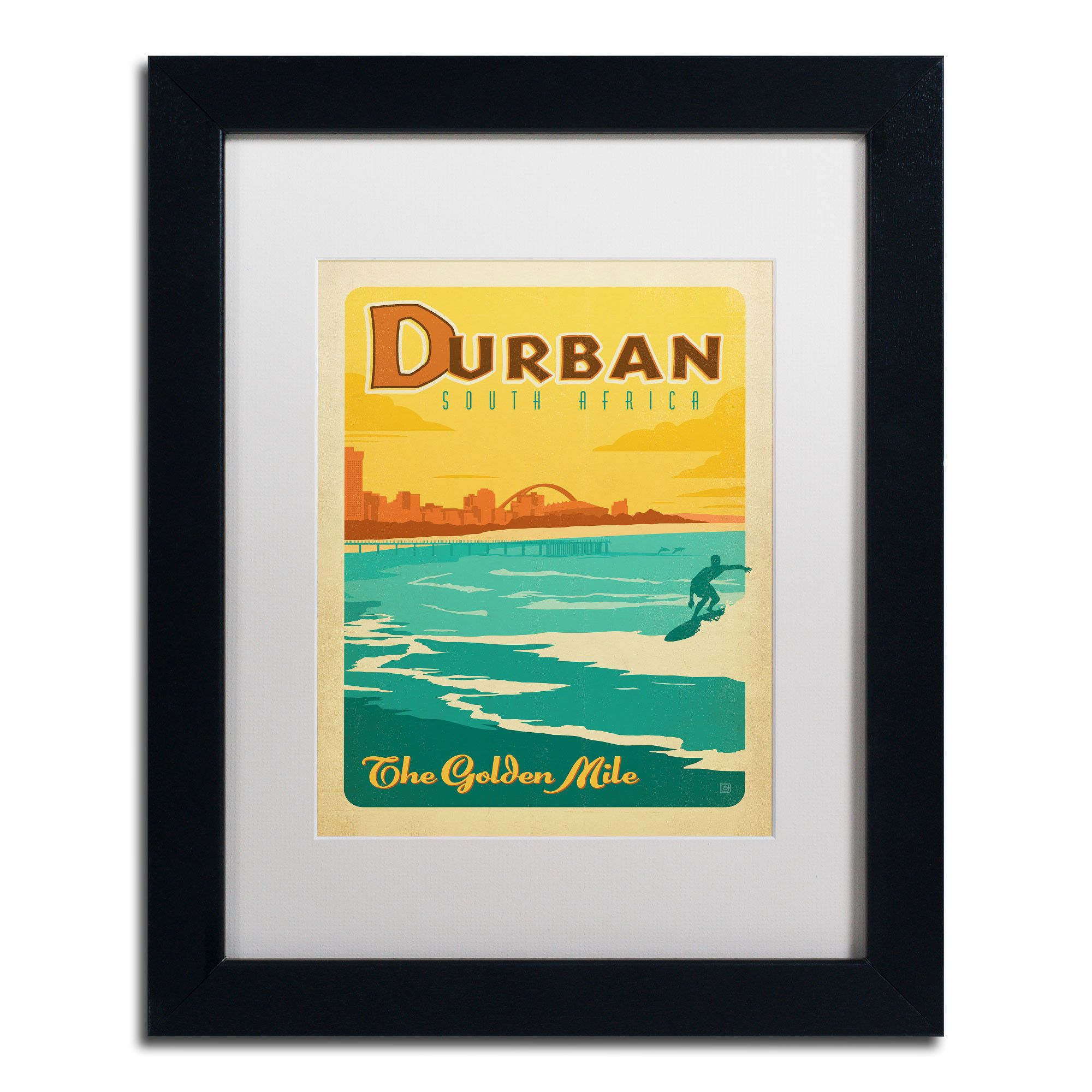 Durban, South Africa\' by Anderson Design Group Framed Vintage ...