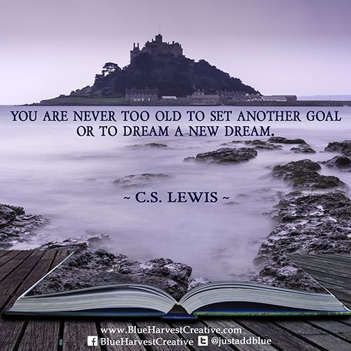 you are never too old to set another goal or to dream a new dream cslewis