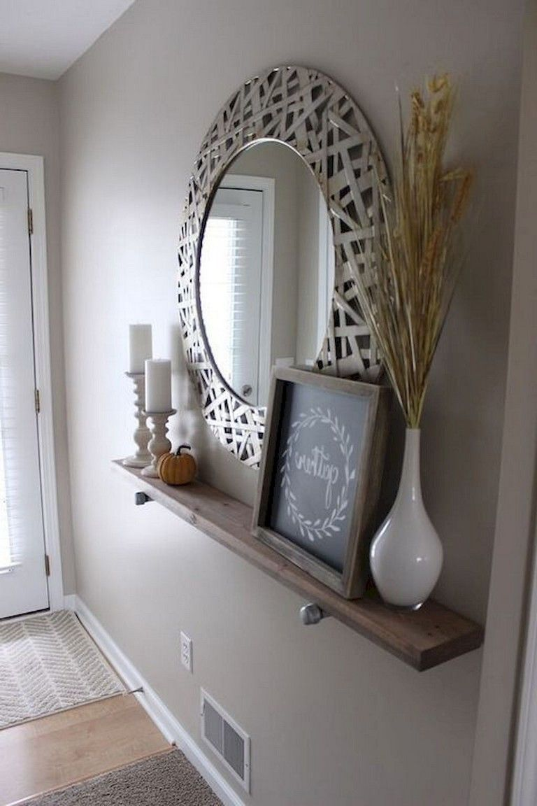 Shelves White Walls And Entry Ways: 79+ Awesome Modern Farmhouse Entryway Decorating Ideas