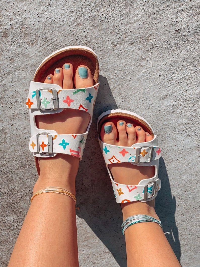 Hand-painted designer sandals