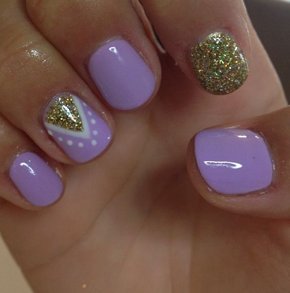 Lavender nails ❤ - 30 Cool Nail Art Ideas For 2018 - Easy Nail Designs For Beginners