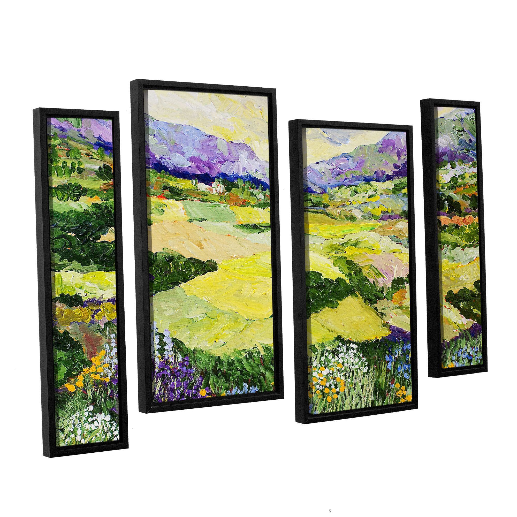 ArtWall Allan Friedlander \'Cool Grass\' 4 Piece Floater Framed ...