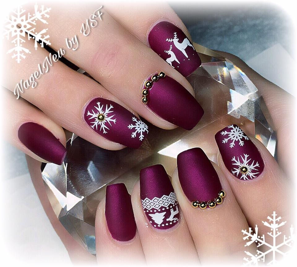 purple winter matt nails nailart pinterest. Black Bedroom Furniture Sets. Home Design Ideas