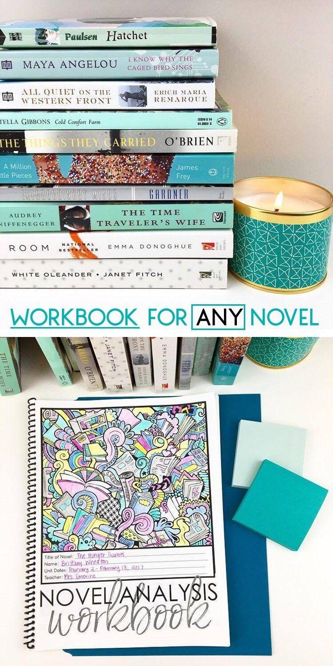 Workbook for ANY Novel: Unit Study Grades 7-12 EDITABLE | High ...