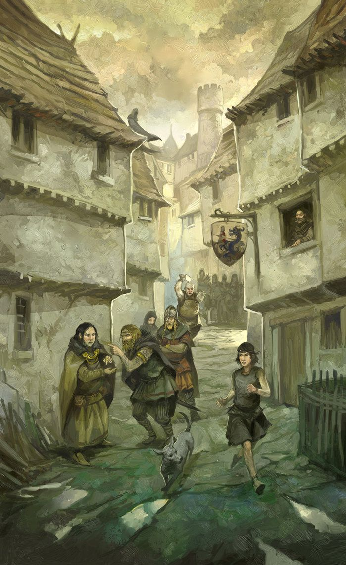 A back alley of denerim medieval towns and cities pinterest a back alley of denerim voltagebd Images