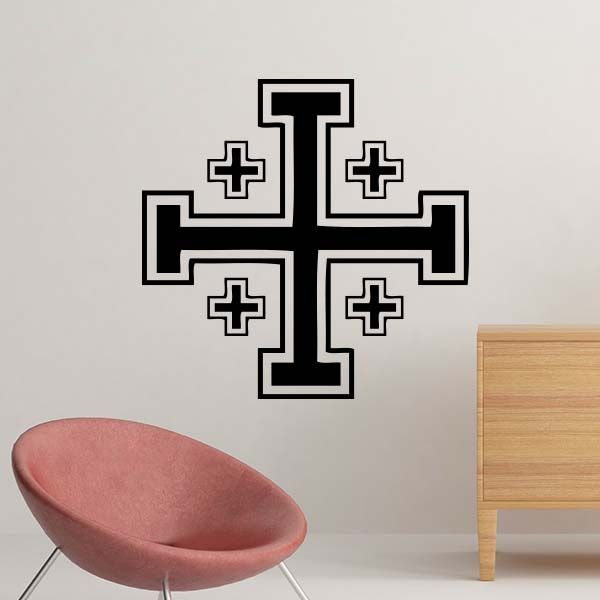 The Christian Cross Symbol Of Christianity Decal Wall Sticker