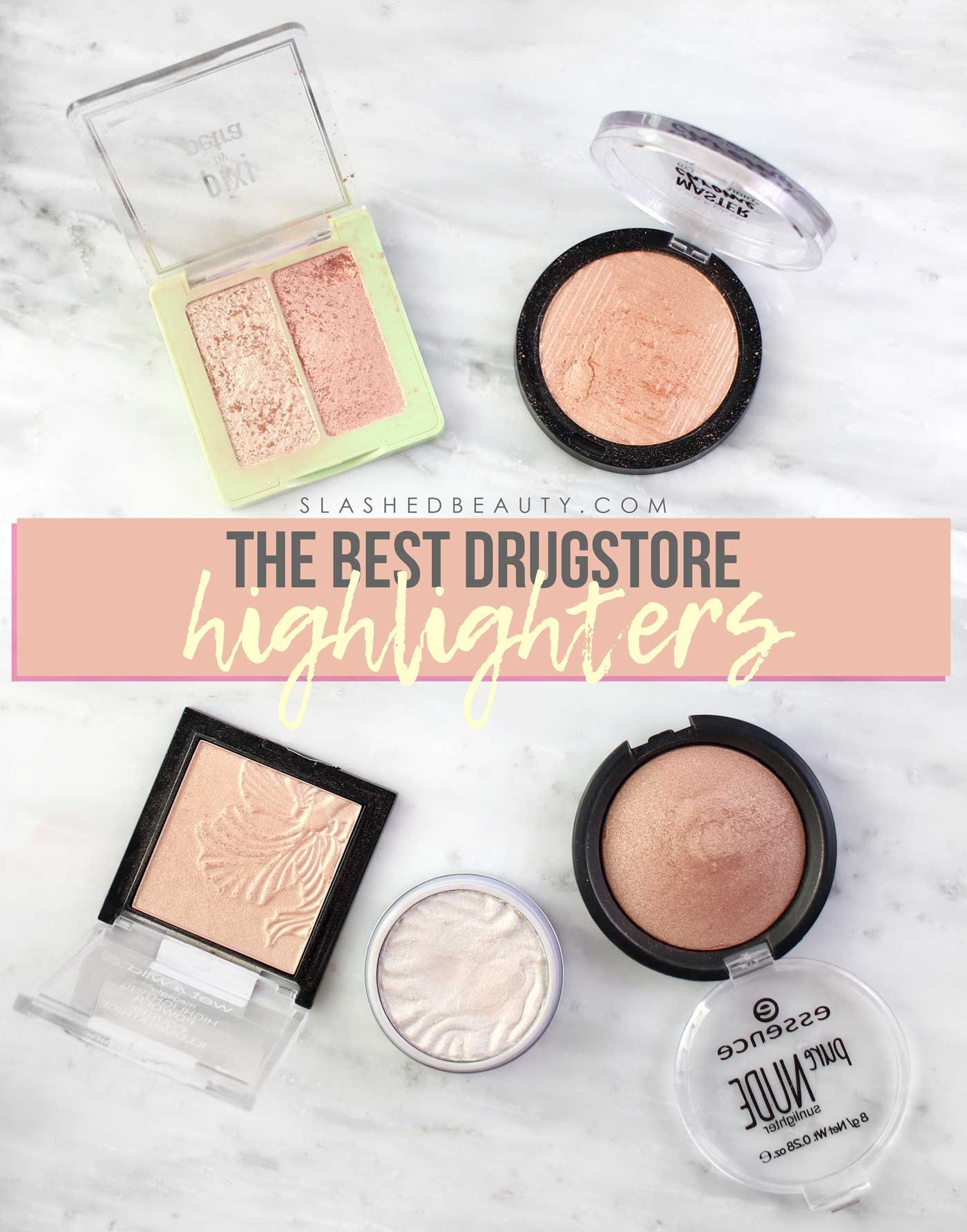 The 5 Best Drugstore Highlighters Powders In 2020 Best Drug Store Highlighter Drugstore Highlighter Highlighter Swatches