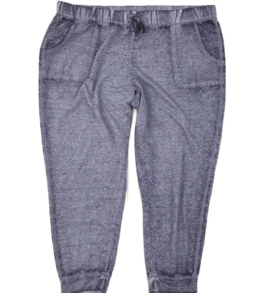 7991bf724357 Danskin Now Joggers Plus Size 22W 24W Womens Blue Burnout Full Length Pants  #DanskinNow #ActivewearJoggers