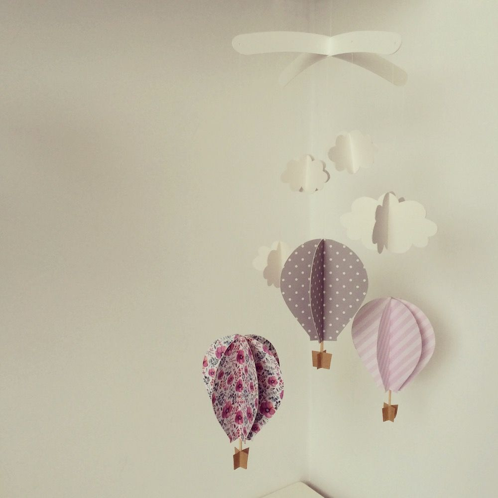Giostrina In Carta Baby Girl Origami Camerette Carta